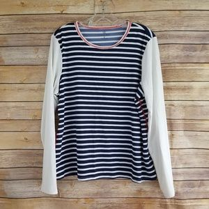Lands End Women's Striped Pullover Top